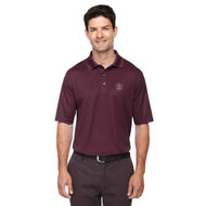 MRO Core 365 Men's Origin Performance Piqué Polo with Faith-Based Logo - Burgundy (MRO-103-BU)
