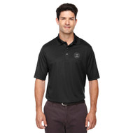 MRO Core 365 Men's Origin Performance Piqué Polo with Faith-Based Logo - Black (MRO-103-BK)