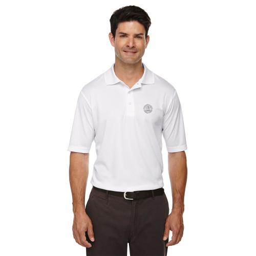 MRO Core 365 Men's Origin Performance Piqué Polo with Faith-Based Logo - White (MRO-103-WH)