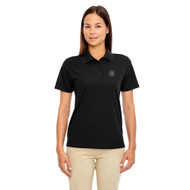 MRO Core 365 Ladies' Origin Performance Piqué Polo with Faith-Based Logo - Black (MRO-203-BK)