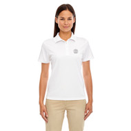 MRO Core 365 Ladies' Origin Performance Piqué Polo with Faith-Based Logo - White (MRO-203-WH)