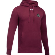 MRO Under Armour Men's Hustle Fleece Hoody with Athletic Logo - Maroon (MRO-105-MA)
