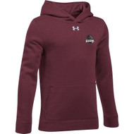 MRO Under Armour Youth Hustle Fleece Hoody with Athletic Logo - Maroon (MRO-305-MA)