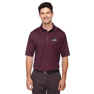 MRO Core 365 Men's Origin Performance Piqué Polo with Athletic Logo - Burgundy (MRO-106-BU)