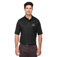 MRO Core 365 Men's Origin Performance Piqué Polo with Athletic Logo - Black (MRO-106-BK)