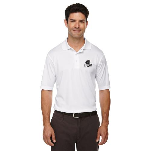 MRO Core 365 Men's Origin Performance Piqué Polo with Athletic Logo - White (MRO-106-WH)
