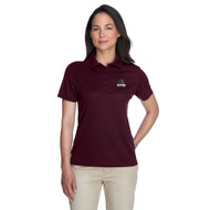 MRO Core 365 Ladies' Origin Performance Piqué Polo with Athletic Logo - Burgundy (MRO-206-BU)