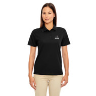 MRO Core 365 Ladies' Origin Performance Piqué Polo with Athletic Logo - Black (MRO-206-BK)