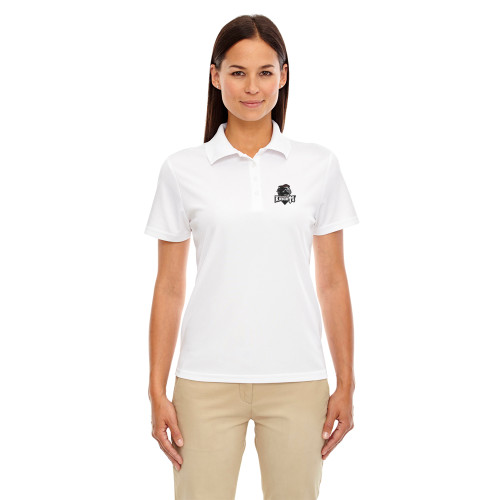 MRO Core 365 Ladies' Origin Performance Piqué Polo with Athletic Logo - White (MRO-206-WH)