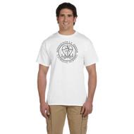 MRO Gildan Adult Ultra Cotton T-Shirt with Faith-Based logo - White (MRO-107-WH)