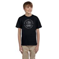 MRO Gildan Youth Ultra Cotton T-Shirt with Faith-Based Logo - Black (MRO-307-BK)