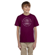 MRO Gildan Youth Ultra Cotton T-Shirt with Faith-Based Logo - Maroon (MRO-307-MA)