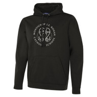 MRO ATC Men's Game Day Fleece Hooded Sweatshirt with Faith-Based Logo - Black (MRO-108-BK)