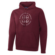 MRO ATC Men's Game Day Fleece Hooded Sweatshirt with Faith-Based Logo - Maroon (MRO-108-MA)