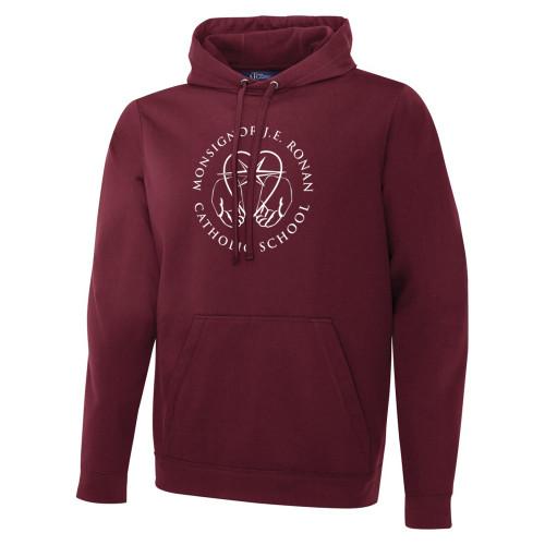 MRO ATC Men's Game Day Fleece Hooded Sweatshirt with Faith-Based Logo - Maroon (MRO-108-MA)