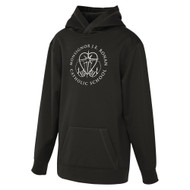 MRO ATC Game Day Fleece Hooded Youth Sweatshirt with Faith-Based Logo - Black (MRO-308-BK)