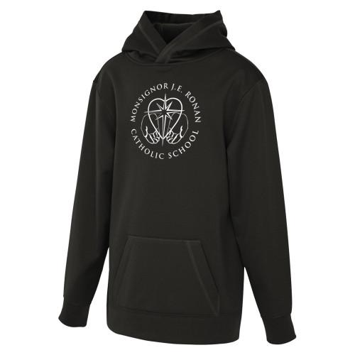 MRO ATC Game Day Fleece Hooded Youth Sweatshirt with Faith-Based Logo - Black (MRO-308-BK)