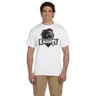 MRO Gildan Adult Ultra Cotton T-Shirt with Athletic Logo - White (MRO-109-WH)