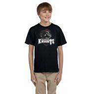 MRO Gildan Youth Ultra Cotton T-Shirt with Athletic Logo - Black (MRO-309-BK)