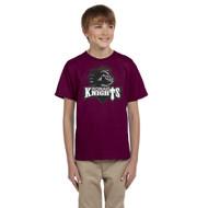 MRO Gildan Youth Ultra Cotton T-Shirt with Athletic Logo - Maroon (MRO-309-MA)