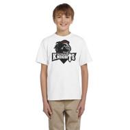 MRO Gildan Youth Ultra Cotton T-Shirt with Athletic Logo - White (MRO-309-WH)