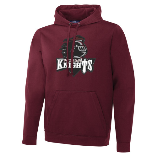 MRO ATC Men's Game Day Fleece Hooded Sweatshirt with Athletic Logo - Maroon (MRO-110-MA)