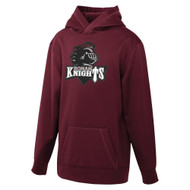 MRO ATC Game Day Fleece Hooded Youth Sweatshirt with Athletic Logo - Maroon (MRO-310-MA)