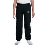 MRO Gildan Youth Heavy Blend 50/50 Sweatpant with Faith-Based logo - Black (MRO-312-BK)
