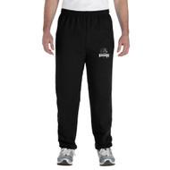 MRO Gildan Adult Heavy Blend 50/50 Sweatpant with Athletic Logo - Black (MRO-114-BK)