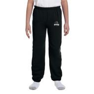 MRO Gildan Youth Heavy Blend 50/50 Sweatpant with Athletic Logo - Black (MRO-314-BK)