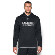 LCC Under Armour Men's Double Threat Fleece Hoody with Sports Name - Black (LCC-111-BK)