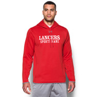 LCC Under Armour Men's Double Threat Fleece Hoody with Sports Name - Red (LCC-111-RE)