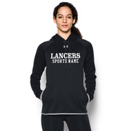 LCC Under Armour Women's Double Threat Fleece Hoody with Sports Name - Black (LCC-211-BK)