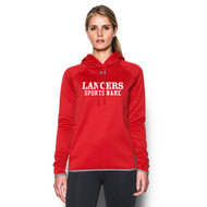 LCC Under Armour Women's Double Threat Fleece Hoody with Sports Name - Red (LCC-211-RE)