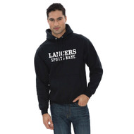 LCC ATC Adult Everyday Fleece Hooded Sweatshirt with Sports Name - Black (LCC-011-BK)