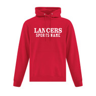 LCC ATC Adult Everyday Fleece Hooded Sweatshirt with Sports Name - Red (LCC-011-RE)