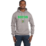 2022 SDC Champion Adult Double Dry Eco Pullover Grad Hoody - Light Steel (SDC-121-LS)
