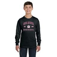 NMC Gildan Youth Heavy Blend Long Sleeve T-shirt - Black (NMC-302-BK)