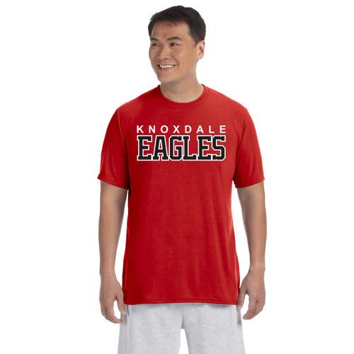 KPS Gildan Adult Performance Adult T-Shirt - Red (KPS-007-RE)