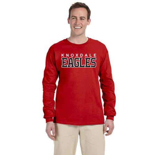 KPS Gildan Adult Ultra Cotton Long Sleeve T-Shirt - Red (KPS-008-RE)