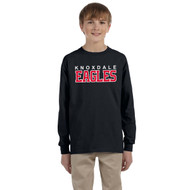 KPS Gildan Youth Ultra Cotton Long-Sleeve T-Shirt - Black (KPS-308-BK)