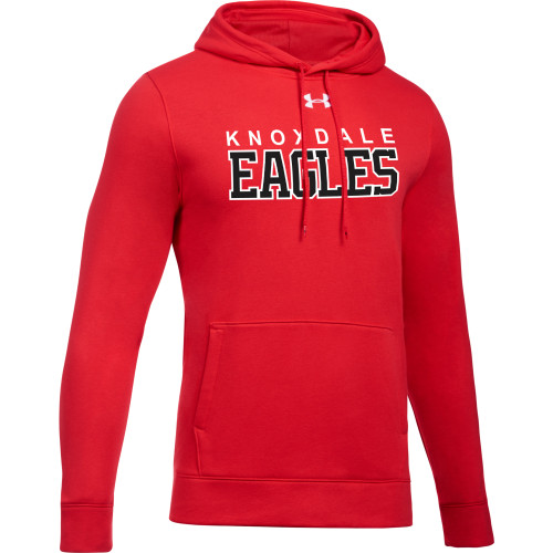 KPS Under Armour Men's Hustle Fleece Hoody - Red (KPS-104-RE)