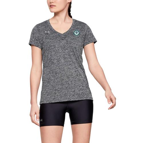 Under Armour Women's Tech V-Neck Twist Short Sleeve Tee - Black (MCM-202-BK)