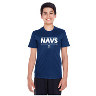 NCC Team 365 Youth Zone Performance T-Shirt - Navy (NCC-301-NY)