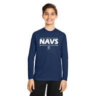 NCC Team 365 Youth Zone Performance Long-Sleeve T-Shirt - Navy (NCC-302-NY)