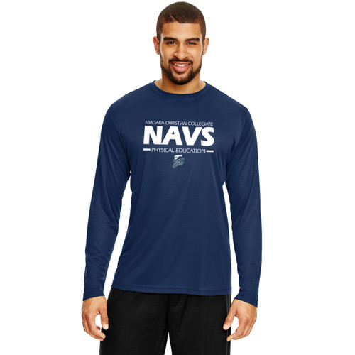 NCC Team 365 Men's Zone Performance Long-Sleeve T-Shirt - Navy (NCC-102-NY)