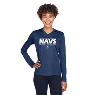 NCC Team 365 Women's Zone Performance Long-Sleeve T-Shirt - Navy (NCC-202-NY)