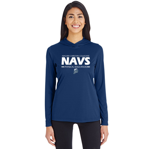 NCC Team 365 Women's Zone Performance Hoodie - Navy (NCC-203-NY)