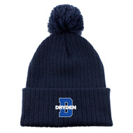 JND Men's Acrylic Toque With Pom - Navy (JND-052-NY.KP-AC1070-NAV-OS)