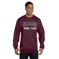 JCS Champion Adult Powerblend Eco Fleece Crew Sweater - Maroon (JCS-016-MA)